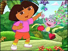 Dora z małpką maszerują po dżungli http://grazilla.pl/gry-dora/