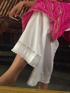 Best 12 Maroon Silk Cotton Pants with Brocade Plazzo Pants, Salwar Pants, Dress Neck Designs, Blouse Designs, Stylish Dresses, Casual Dresses, Mode Wax, Fashion Pants, Fashion Outfits