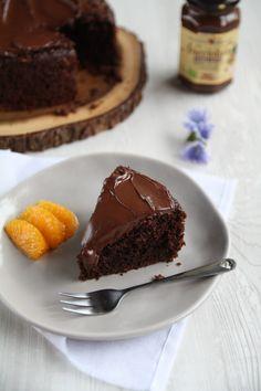 Torta al cioccolato senza glutine e senza lattosio Sin Gluten, Bundt Cakes, Dessert Recipes, Desserts, Dolce, Biscotti, Glutenfree, Brownies, Dairy Free