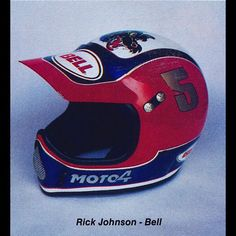 One of the most iconic helmets of all time, Ricky Johnson's 1986 Troy Lee Designs Bell Moto-4 #Badass #TooHip #Icon #StyleForMiles #Motocross #Supercross #Champ #CustomHelmetsRule #ILove80sMoto