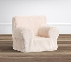 Ivory Faux Fur Anywhere Chair®   Pottery Barn Kids