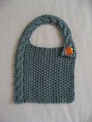 6f51719bb91a1 Modern Cabled Baby Bib. Baby Bibs PatternsBaby Knitting ...