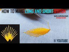 HOW TO MAKE AARI WORK AND ZARI WORK - LONG AND SHORT STITCH # PART 12 DIY TUTORIAL @ MAGGAM WORK - YouTube