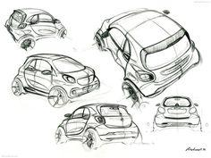 Smart Fortwo | exterior design sketch