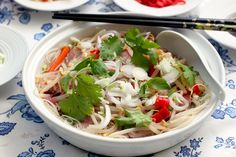 Vietnamese Pho...delicious warm soup juxtaposed with crunchy fresh vegetables - YUM