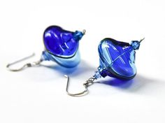 Murano glass earrings Blown glass earrings Mom gift by BeadABoo Silver Jewelry, Unique Jewelry, Glass Earrings, Blown Glass, Gifts For Mom, Swarovski Crystals, Sterling Silver, Beads, Handmade Gifts