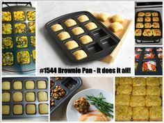 Twelve Reasons to own the Brownie Pan:  12. Perfect Portion Size  11. Perfect Edge Brownies  10. Great for make-ahead meals  9. Mini Personal Pizzas  8. Many Delicious Desserts  7. Mini Meatloaf  6. Mini Lasagna  5. Mini Breakfast Omelettes  4. Non-stick coating for easy release and clean-up!  3. Faster cooking and baking times  2. Free or Half-price when you host a party!  1. ONLY $23!