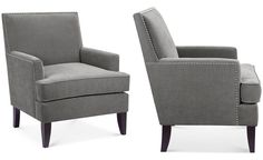 Kendall Fabric Accent Chair, Quick Ship - Furniture - Macy's