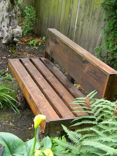 Rustic Bench...great idea...I have the perfect place for one of these!