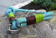 Dog collar customized, dog collar personalized, colorful dog collar, collar dog, pet accessories Green Leather, Leather Cord, Custom Dog Collars, Blue Dog, Collar And Leash, Big Dogs, Pet Accessories, Green And Brown, Snug Fit