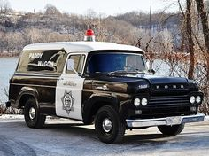 1959 Ford F350 panel truck paddy wagon