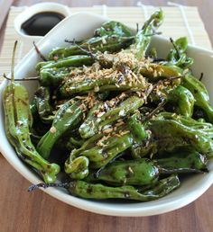 Shishito Peppers in Soy Ginger Sauce | Little Leopard Book