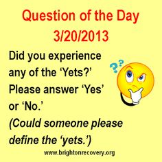 Recovery Question of the Day