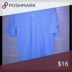 Mens PGA Tour polo/golf shirt Light blue PGA Tour Golf Shirt size Lg PGA,Tour Shirts Polos