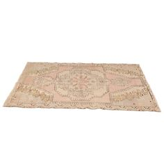 Alba Rug at Found Vintage Rentals. This blush toned kilim rug is lovely for a small vignette.