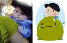 Adorable! Kids Transformed Into Cartoon Illustrations http://www.gossipness.com/funny/adorable-kids-transformed-into-cartoon-illustrations-1260.html
