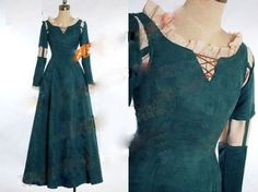 Princess Merida Costume Dress for Brave Halloween Cosplay Custom Made in Clothing, Shoes & Accessories, Costumes, Reenactment, Theater, Costumes   eBay