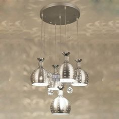 5 Lights Crystal Hanging Dining Room Pendant Light Modern Hollow Out Silver Aluminum Cups Livin Room Fashion Pendant Lamps OUOVO,http://www.amazon.com/dp/B00FHNKONI/ref=cm_sw_r_pi_dp_0hO9sb1FS78855WX