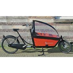 WorkCycles Kr8 Bakfiets cargo bike, Gr8 rear carrier, satin black
