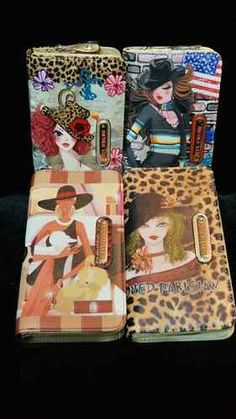 New Nicole Lee U.S.A. Womens New Fashion Muneca Print Wallet with Zipper