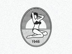 Graphic Design Ideas July 5 1946 Louis Reards bikini swimsuit design debuts at Paris fashion sh Corporate Design, Logos, Back Tattoo Women, Ex Machina, Badge Design, Identity Design, Identity Branding, Visual Identity, Design Art