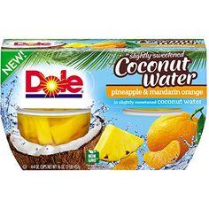 Dole Fruit Bowls Pineapple Mandarin Orange In Coconut Water, 4 Cups, Pack of 6
