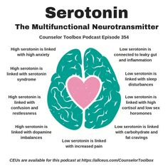 Too much serotonin can be life threatening? Learn about the signs of serotonin s. Mental Health Therapy, Mental And Emotional Health, Mental Health Awareness, Mental Health Facts, Health And Wellbeing, Health And Nutrition, Brain Facts, Info Board, Anatomy And Physiology