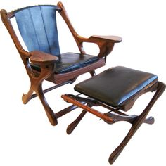 Don Shoemaker Studio Rosewood Lounge Chair and Ottoman | See more antique and modern Lounge Chairs at http://www.1stdibs.com/furniture/seating/lounge-chairs