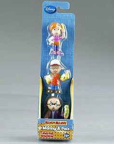 Handy Manny Manny & Pals by Fisher Price. $6.95. Handy Manny. Manny and Pals. Fisher Price Disney Handy Manny Manny & Pals. The Boy and girl are holding a tool and the old man is holding a ice cream. Not for children under 3 years old.
