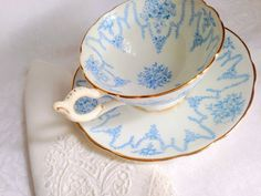 Antique 1920-1939 Coalport Teacup & Saucer. by AprilsLuxuries, etsy