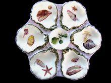 Antique Haviland Oyster Plate ~ Sea Life Classic ~ Tiffany & Company