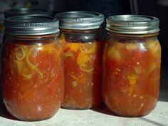 NOTE: As always, don't trust internet recipes for something as important as canning. My recipe is from a friend and I don't know her source, and maybe I mis-typed an ingredient or left something ou...