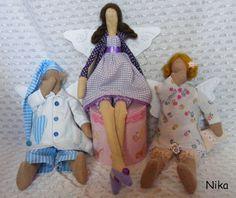 Moje anielskie inspiracje: Anioł w fioletach i Śpiochy:-)
