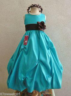 Chocolate Brown Yoru Chiffon Flower Girl Dress | Sherry and Gary ...
