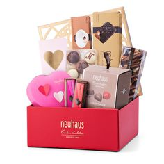 The Neuhaus Deluxe Valentine Gift Box is the perfect chocolate Valentine gift to show your love, whether it is a new passion, enduring affection, or a lifetime together.