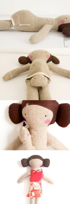 Oh what a fun pregnant - mommy and baby doll idea...Mimin Dolls