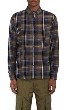 PUBLIC SCHOOL Plaid Cotton Button-Down Shirt. #publicschool #cloth #shirt