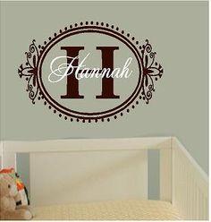 Personalized Monogram Initial  girls baby  by itswritteninvinyl, $22.00