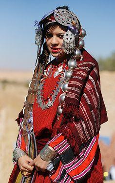 Portrait of a beautiful berber amazigh woman