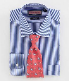 Shop dress shirts at vineyard vines Dress Shirt And Tie, Dress Shirts, Tie A Necktie, Shirt And Tie Combinations, Work Fashion, Mens Fashion, Cute Love Images, Ivy League Style, Stripe Dress