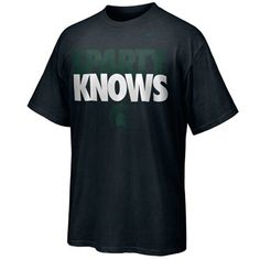 Michigan State Spartans Sparty Knows T-Shirt - Black