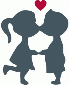 View Design #37186: cute kissing couple silhouette