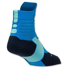 Men's Nike Hyper Elite Basketball High Quarter Socks-photo Blue/obsidian/bleached Turquoise Nike http://www.amazon.com/dp/B00VGU3FZU/ref=cm_sw_r_pi_dp_6PRHvb16G49HC