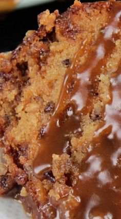fall desserts recipes, chocolate mousse dessert recipes, recipes for easy desserts - Toffee Pecan Caramel Pound Cake Recipe ~ moist cake bursting with sweet toffee bits, crunchy pecans and rich creamy caramel in every bite.