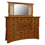Mission Bungalow Chest of Drawers with Mirrors
