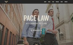 Pace Law - Nice site for a young group of lawyers from Atlanta, GA