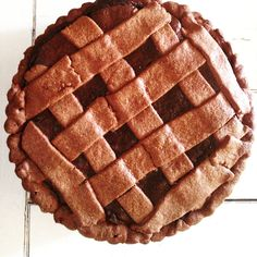 Crostata con cioccolato
