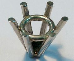 Make six claw collet / prong setting