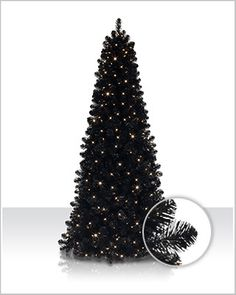 Impress your guests with the truly unique Jet Black Tree with Clear Lights. Decorate with pumpkins and skulls to create a stunning Halloween centerpiece.