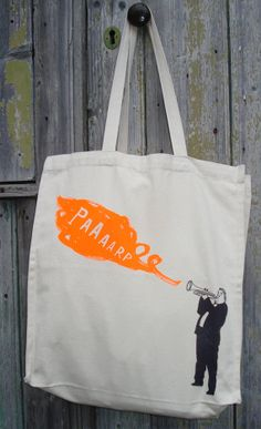 paaaarp canvas bag by charlottefarmer1 on Etsy, $25.00